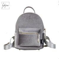 Lydztion Velvet Backpack Women Bag 2018 Top Winter New Solid Bag Shoulder Bag Korean Charms Zipper