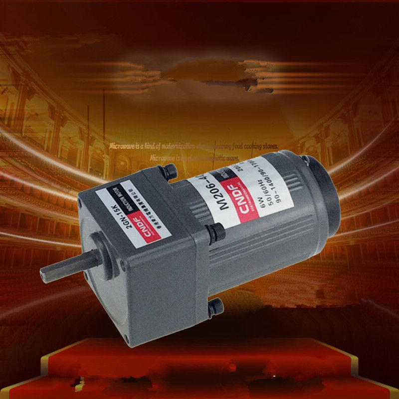 AC Vertical Gear Motor Governor Adjust the speed 6W M206 Single Phase 110V/115V 220V/230V 7RPM-450RPM 2GN  цены