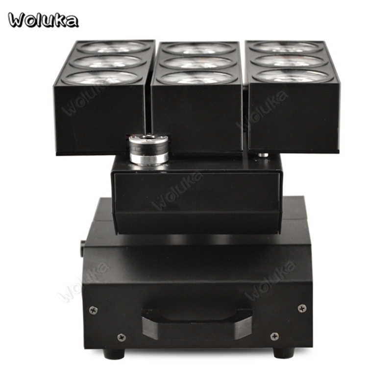 Tahap Efek Pencahayaan 9-Bentuk Mata LED Beam Light Acara Klub Malam Pesta Pesta Lampu Berputar Suara Diaktifkan Ktv Flash CD50 W01