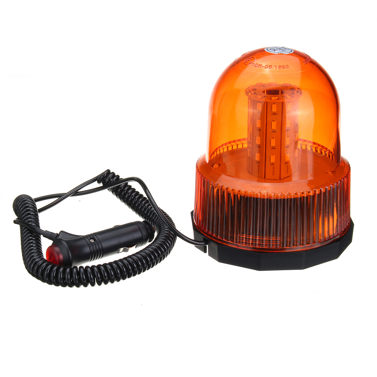 12-24V 40 LED Magnetic Mount Rotating Flashing Amber Dome Beacon Recovery Warning Light Roadway Safety Traffic Light