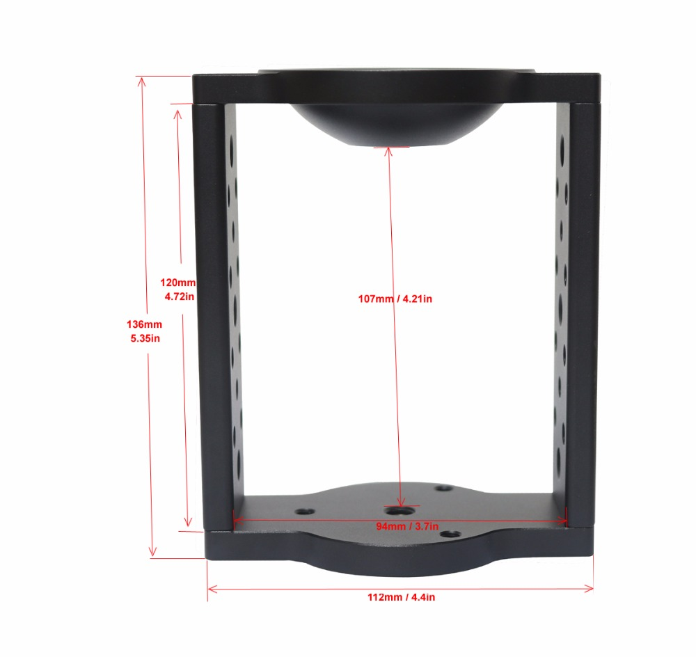 65mm 75mm Half Ball Flat To Bowl Adapter Riser Cradle Converter For Video Tripod Fluid Head DSLR  Rail Slider Dolly