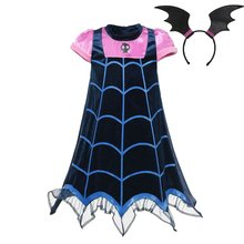 VOGUEON Girl Vampire Cosplay Costumes Children Summer Vampire Party Dress up Clothes Girls Halloween Christmas Birthday Gift