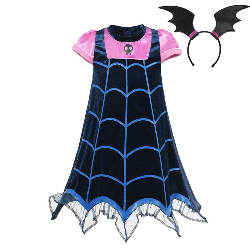 VOGUEON Girl Vampirina Cosplay Costumes Children Summer Vampire Party Dress up Clothes Girls Halloween Christmas Birthday Gift halloween costumes clown dressed up acting cute nose red