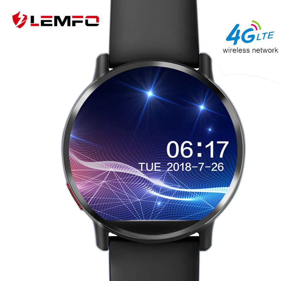 LEMFO LEMX Smart Watch Android 7.1 LTE 4G Sim WIFI 2.03 Inch 8MP Camera GPS Heart Rate  IP67 Waterproof Smartwatch for Men Women