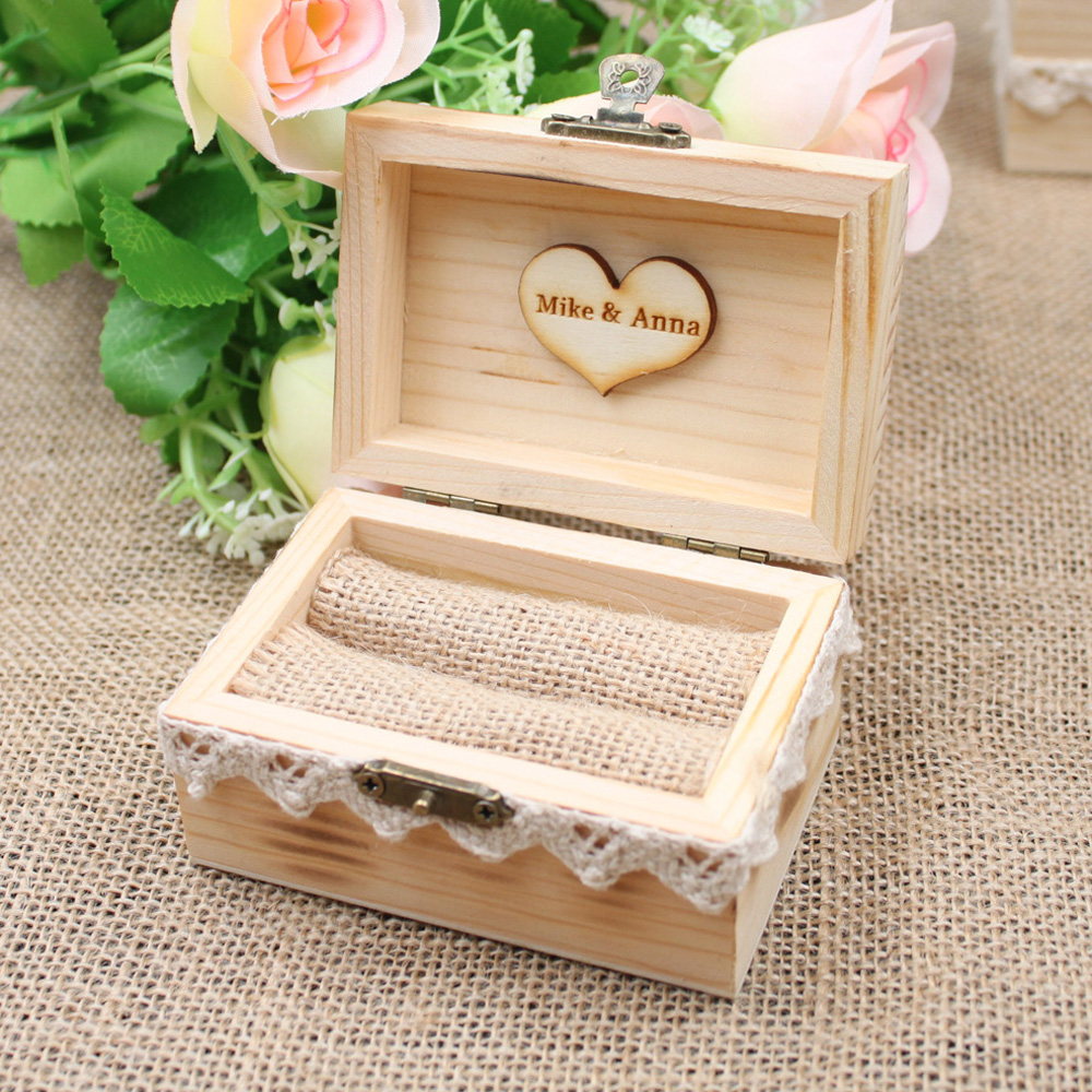 Custom Wooden initial name Rustic Wedding Ring Box,Valentines Engagement lace Wooden Ring Box,Personalized Wedding Ring boxCustom Wooden initial name Rustic Wedding Ring Box,Valentines Engagement lace Wooden Ring Box,Personalized Wedding Ring box