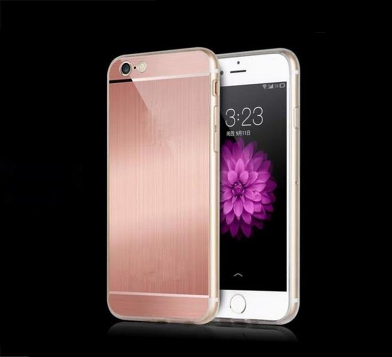 4 Colors Gold Silver Black Rose Gold Luxury High Quality Soft TPU+Acrylic Case For Iphone 5s/6/6 plus ECA088/ECA089/ECA090