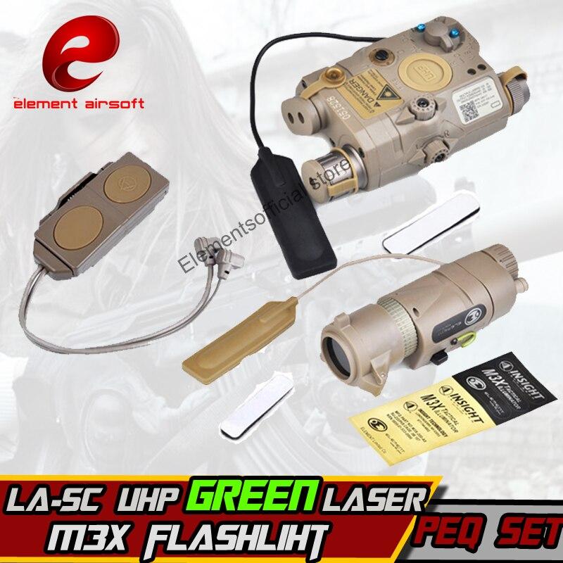 Element softair accessory LA 5 PEQ 15 LA SC UHP Green Laser M3X Hunting weapon arma