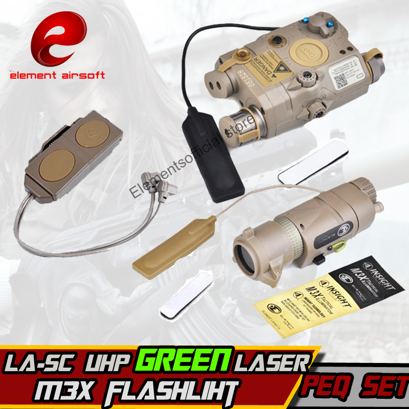 Element softair accessory kit include LA-5/PEQ-15 LA-SC UHP Green Laser M3X Hunting LONG VERSION And DOUBLE REMOTE CONTROL