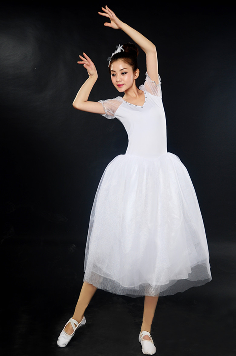 Nouveau 2017 femmes classique professionnel Long Ballet lyrique danse robe ballerine Tutu jupe adulte longue lyrique robe