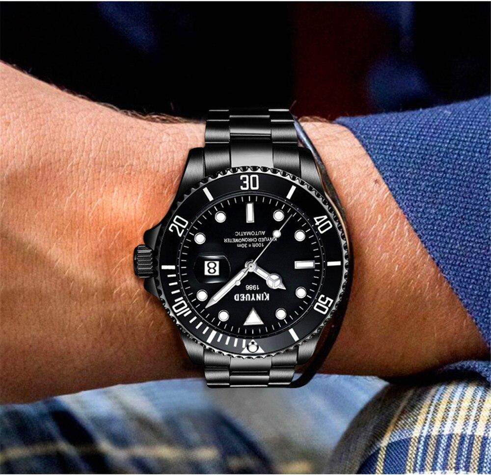 90b98ac25f50 Reloj Mecánico de marca KINYUED 2018 para Hombre con fecha de ...