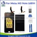 Para meizu m3 note l681h display lcd + touch screen digitador assembléia peças de reposição meizu l681h com ferramentas + adesivo