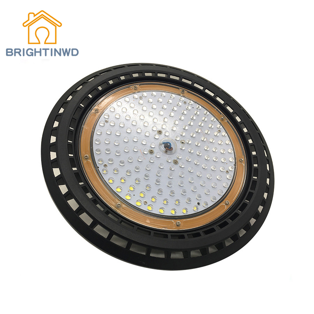 BRIGHTINWD UFO High Bay Light Fixture Round Bay Light UFO LED Factory Building Warehouse Lighting Explosion Proof UFO Light ufo high bay light led lamps industrial lighting round shape led suspension pendant lamp