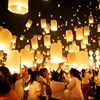 10pcs White Flying Wishing Lamp Chinese Lantern Sky Lanterns Hot Air Kongming Lantern For Birthday Wedding