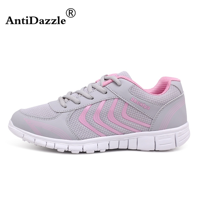 d628f1573 Antidazzle 2017 New Design Woman Shoes Light Breathable Comfortable Men Women  Sport Running Shoes Female Outdoor Sneakers