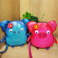 Leather Coin Bag Zipper Cartoon
