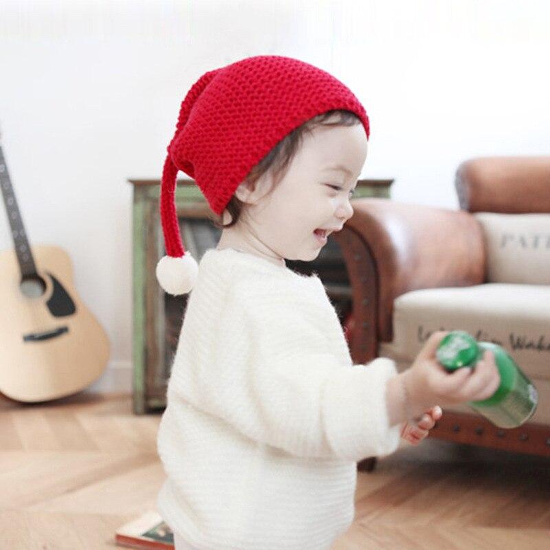 Newborn Baby Christmas Hats Cute Ear Kids Knitted Caps Boys Girls Casual Beanie