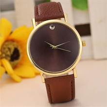 Luxury Brand Womens Watch Fashion Retro Design Leather Band Analog Alloy Quartz Wrist Watch Big Dial