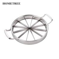 HOMETREE Thicker Stainless Steel Watermelon Slicer Cantaloupe Cutting Seeder Slicer Kitchen Tool Corer Melon Cut Fruit Tool H14