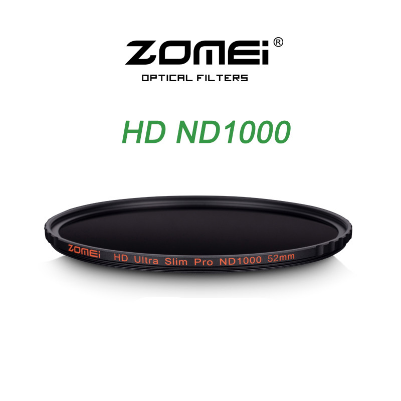 Zomei 52/58/67/72/77/82MM Ultra Slim MC ND1000 ND3.0 10 Stop Sliver Rimmed Glass Neutral Density ND Filter for Canon Nikon Sony zomei 67mm nd1000 hd slim nd filter multi coated 10 stop 3 0 neutral density gray lens filter for canon nikon sony leica pentax