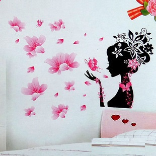 Flower Fairy 3D three dimensional crystal wall stickers