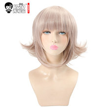 HSIU Super DanganRonpa Cosplay Wig Chiaki Nanami Costume Play Woman Adult Wigs Halloween Anime Game Hair free shipping