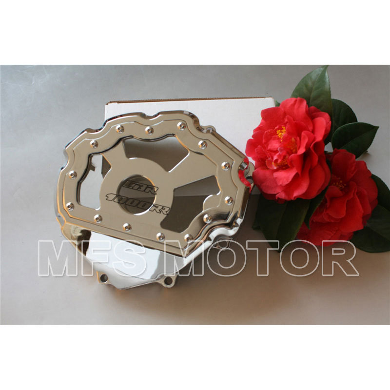 Motorcycle Part motor parts Left side Engine Stator cover see through For Honda CBR1000RR 2008 2009 2010 2011 2012 2013 Chrome aftermarket free shipping motorcycle parts billet engine stator cover for honda cbr600rr f5 2007 2012 chrome left