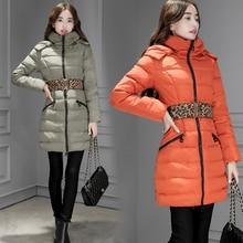 Зимняя мода новый длинный отрезок Тонкий был тонкий пуховик женщин 90 бархат капюшоном twill Корейский тепло