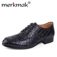 CASHOW Brand Genuine Leather Oxford Shoes For Men Business Men Crocodile Shoes Men S Dress Shoes