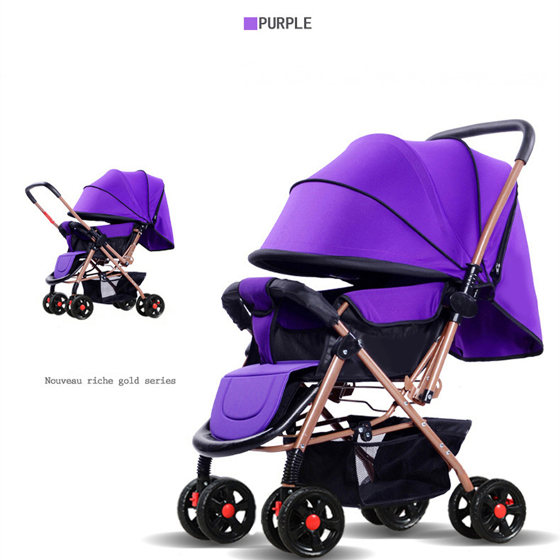 HUAYING Stroller Safety Baby Stroller Can Sit Reclining Cart Eight-Wheel Yoya Stroller Health Baby Two-Way Stroller