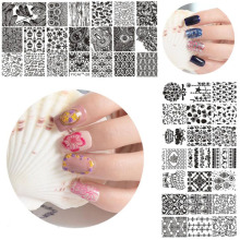 1pc New Arrival Nail Stamping Plates Stainless 40Styles Choice DIY Manicure Geometry Flower Image Stamp Plate YICAI(40)