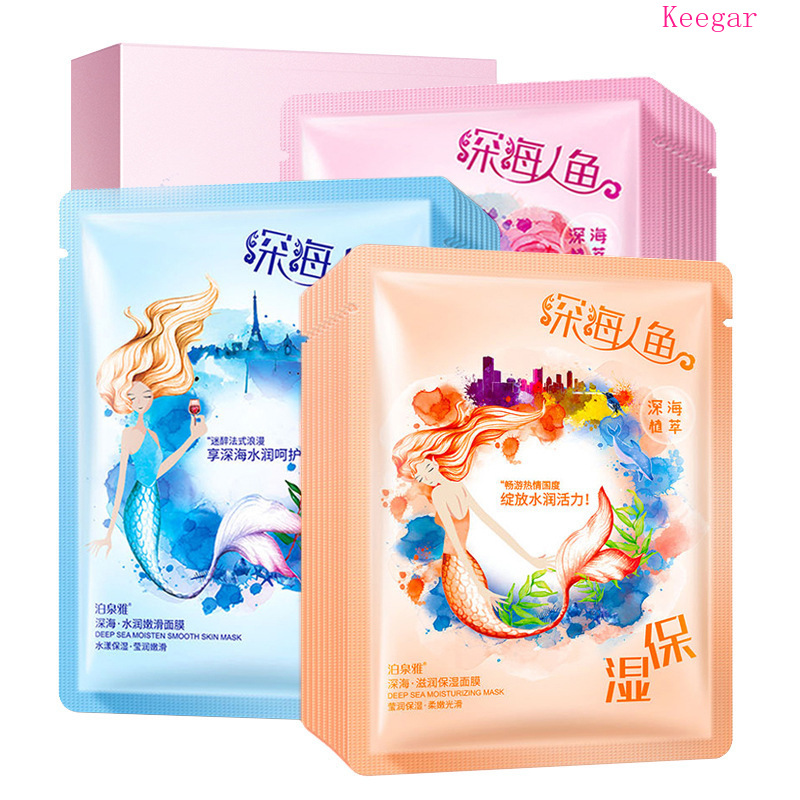10Pcs Bioaqua Deep Sea Plant Moisturizing Face Mask Whitening Nourishing Skin Anti Wrinkle Shrink Pores Acne Treatment Skin Care