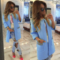 2016 Осень Женщины Длинное Пальто Открыть Стежка Пальто для Женщин мода Куртки Mujer Пальто для женщин S, M, L, XL