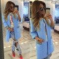 2016 Mulheres de Outono Longo Trench Coat Casaco de Ponto Aberto para As Mulheres Chaquetas Mujer de moda Trench Coat para as mulheres S M L XL
