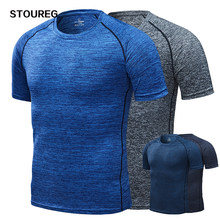 Quick Dry heren Running T-Shirts, Compressie Sport T-Shirts, Fitness Gym Tees, mannen Voetbal Jersey Sportkleding(China)