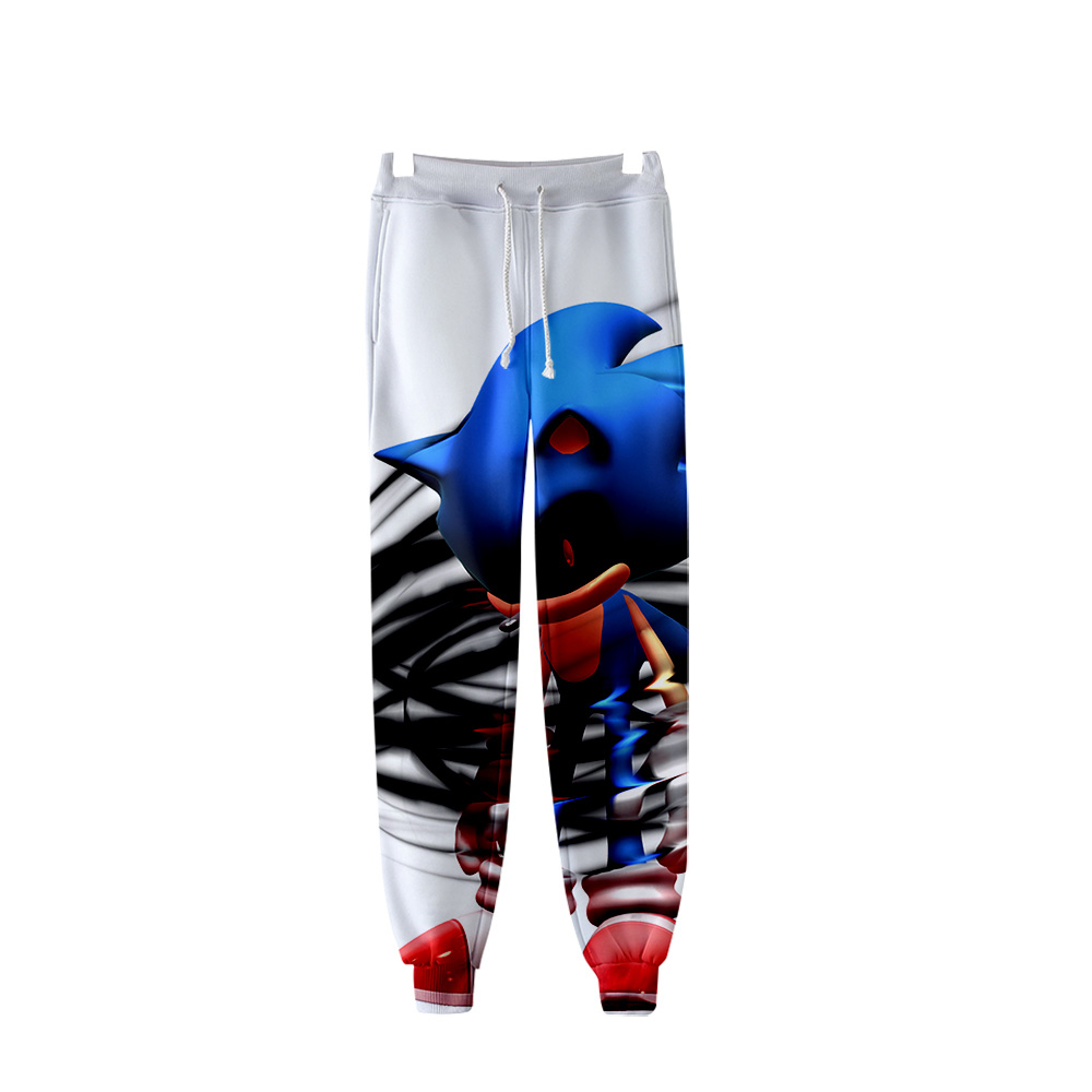 2019 Sonic Warm Pop 3D Fashion High Quality Casual Pants Slim(China)
