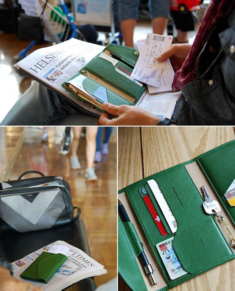 Travel Passport Cover Foldable Credit Card Holder Money Wallet ID Multifunction Documents Flight Bit License Purse Bag PC0045 (14)