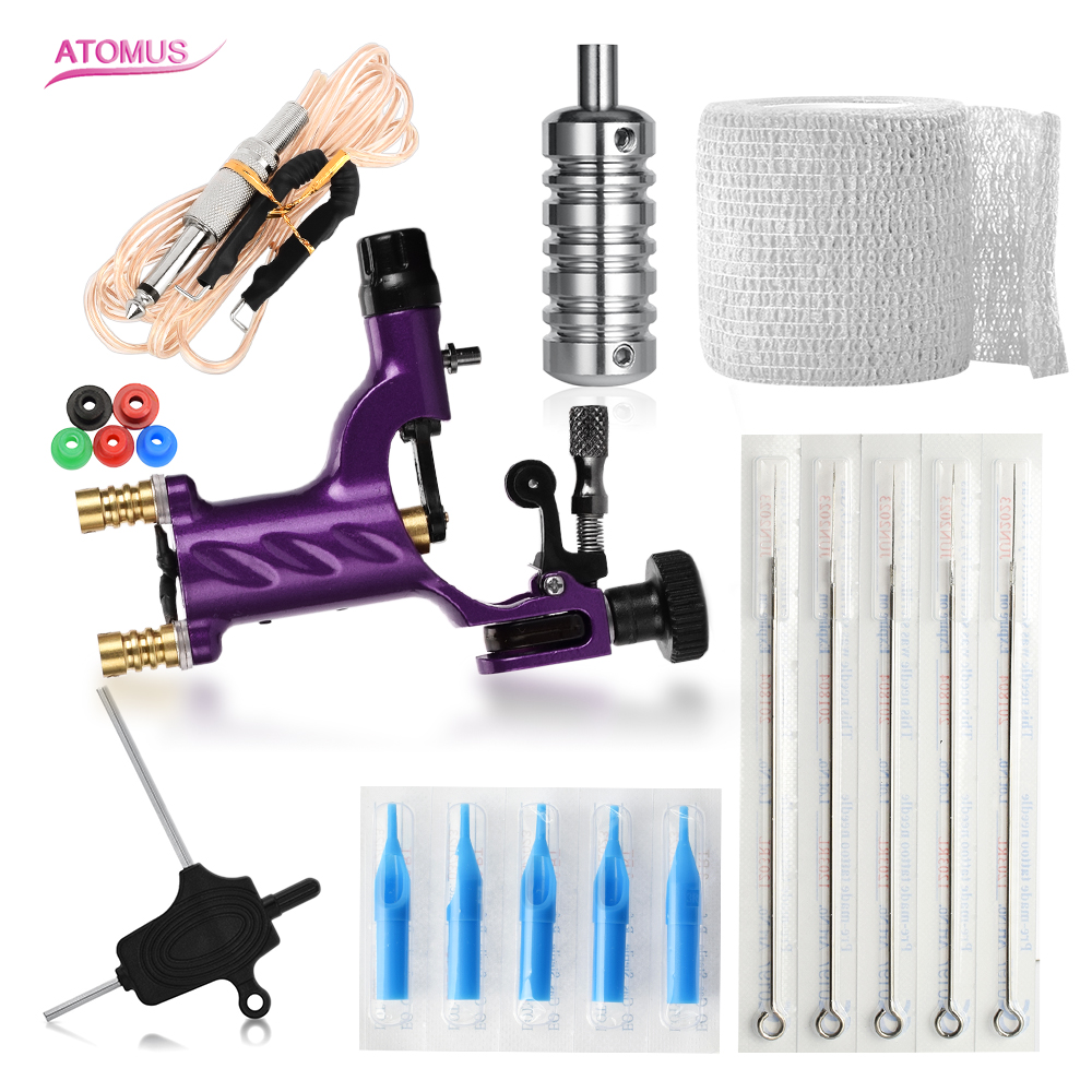Maquina Tattoo Kit Professional Machine Tatouage Rotative Maquinas Tatuar Rotativas Set De