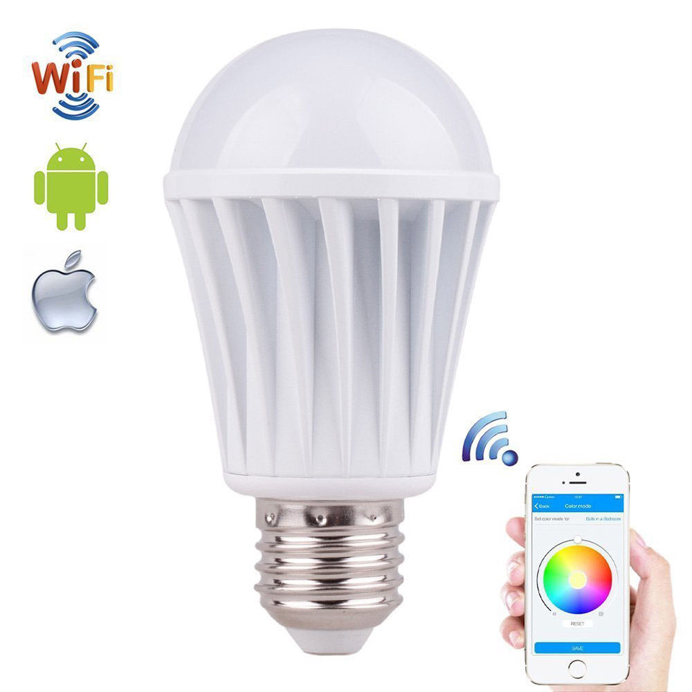Creative Wifi Smart LED Light Bulb Smartphone Remote Controlled Dimmable Magic Home Free App