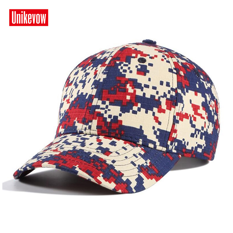 Brand UNIKEVOW Cotton Camouflage   Baseball     Cap   Unisex Outdoor Snapback Hat Spring Summer Sunscreen   Caps   Hip Hop hats for men