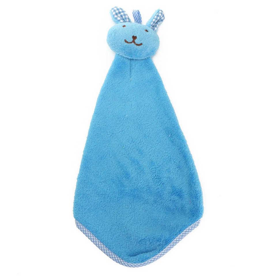 1 шт. милое Банни коралловый флис ручное полотенце кухонная вешалка мочалка модная Милая
