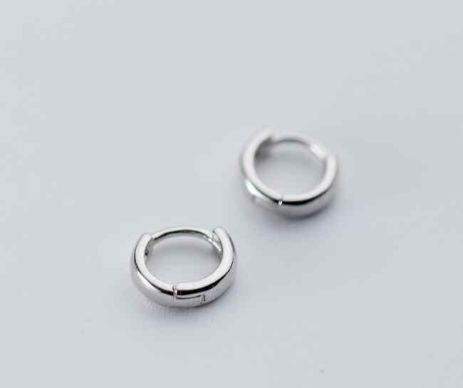 Sterling Silver Rounded Huggie Hoop Earrings Designer Small 12.75 MM NEW