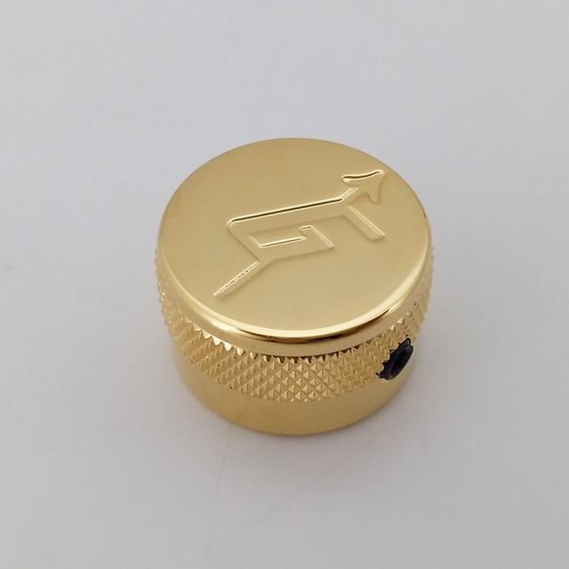 Brass Materal Locking Loại Vàng Chrome Kết Thúc G biểu tượng mũi tên Flat Top Guitar knobs đối Gretsch Guitar Made In Korea