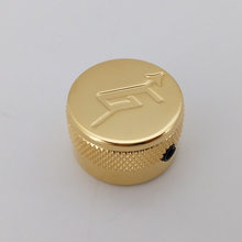 Brass Materal Locking Type Gold Chrome Finish G arrow logo Flat Top Guitar knobs for Gretsch Guitar Made In Korea(China)