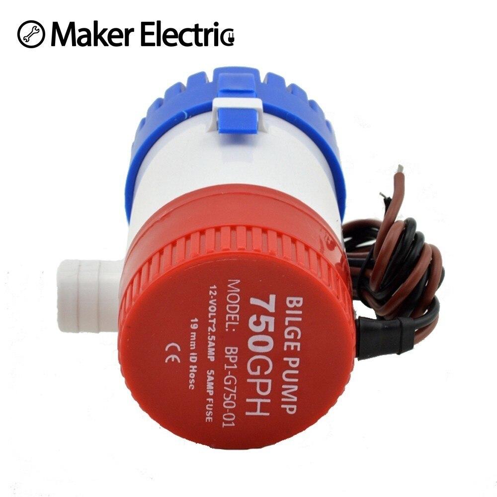 MKBP-G750-24 750GPH 24v Small Portable Bilge Pump,Marine Water Pumps