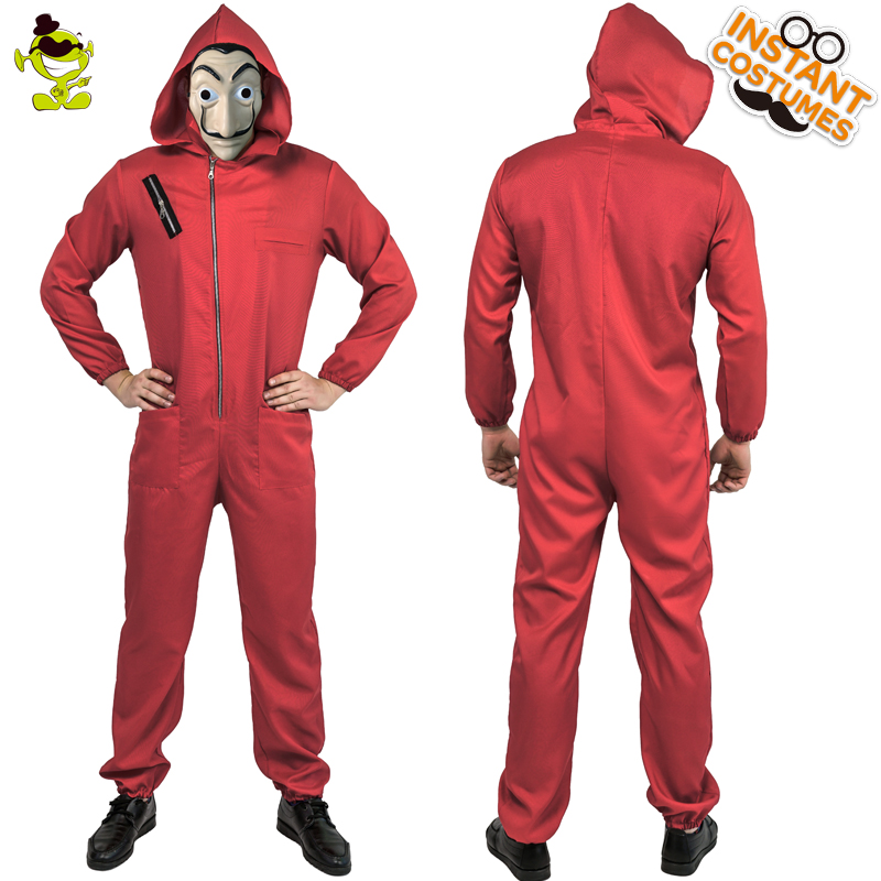 Adult man  Dali Movie Costume Role Play Money Heist The House of Paper La Casa Cosplay Halloween Party Costumes with Face Mask-in Holidays Costumes from Novelty & Special Use
