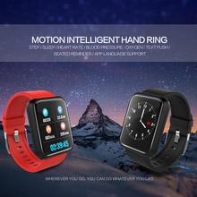 Купить с кэшбэком New Sport3 Smart Watch HD Screen Heart Rate Blood Pressure Tracker Waterproof Sport Bracelet Bluetooth Wristband For IOS Android