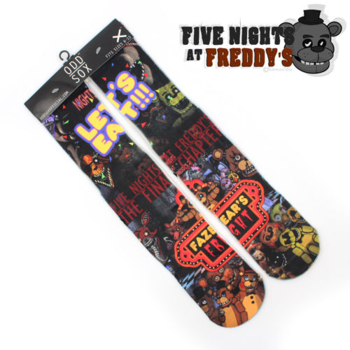 "4x16"" Five Nights at Freddy's Freddy Fazbear's Pizza Cotton Socks Colorful Stockings Tights Cosplay Costume Fashion Gifts Cool"