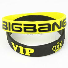 300pcs Bang Vip Wristband Silicone Bracelets Rubber Cuff Wrist Bands Bangle Free Shipping By Fedex