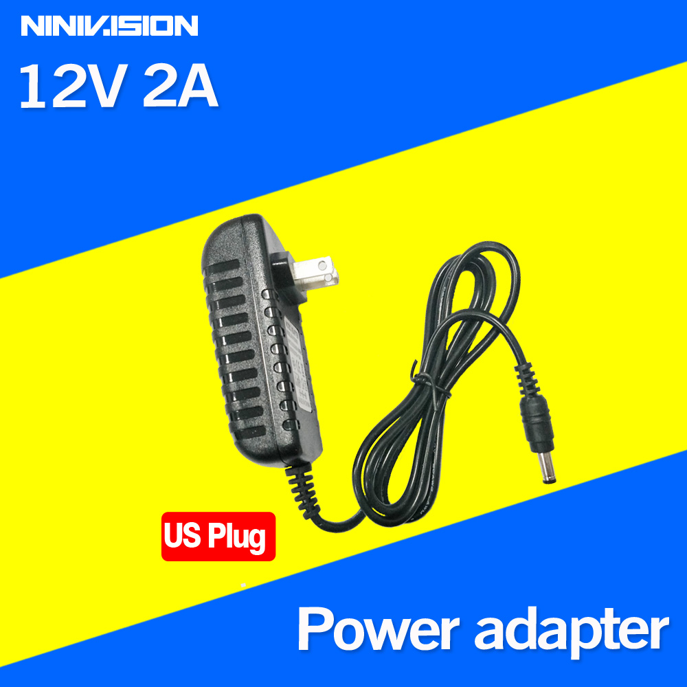 1PCS 12V2A AC 100V-240V Converter Adapter DC 12V 2A 2000mA Power Supply US Plug 5.5mm x 2.1-2.5mm for LED CCTV 12v 2a ac power 100v 240v converter adapter dc 12v2a 2000ma the us power plug 5 5 mm x 2 1 2 5 mm for led cctv