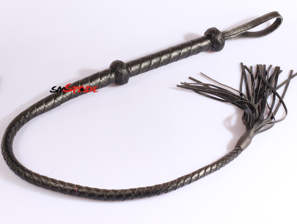 116Cm Handmade Horse Whip, Artificial Leather Flogger -9309